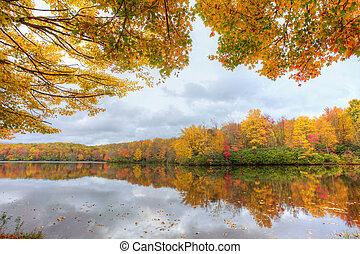 צבעים, אגם, נפול