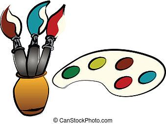 צבעים, מיברשות