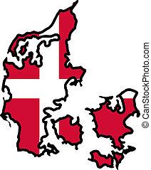צבעים, של, דנמרק