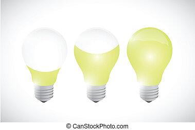צבע, אור, רעיון, דוגמה, עצב, נורת חשמל