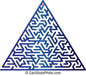 צבע, וקטור, maze., illustration.