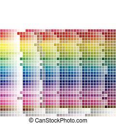 צבע לוח צבעים, רעף, רקע