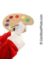 צבע לוח צבעים, santas