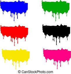 צבע, קבע, כתמים