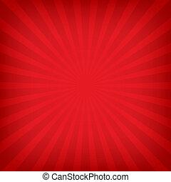 צבע, קרנות של שמש, רקע אדום