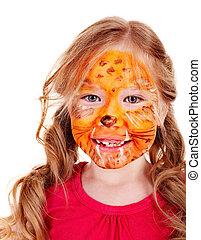 צבע, face., ילדים