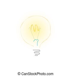 צהוב, נורת חשמל, בלבן, רקע