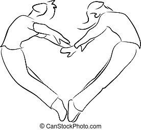 צורה של לב