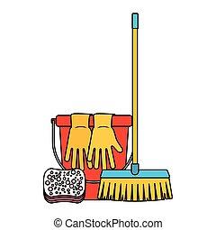 ציוד, לנקות, התיחס