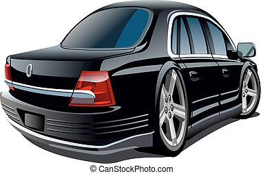 ציור היתולי, וקטור, מכונית