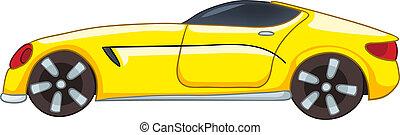 ציור היתולי, מכונית