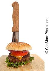 צ'יזבורגר, זה, סכין