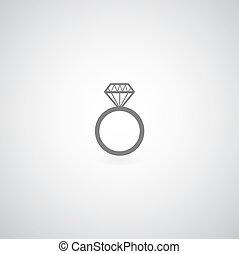 צלצול של אירוסין של היהלום