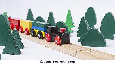 צעצוע מעץ, אלף, ב, נוף כפרי