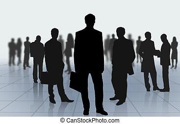 קבוצה של אנשים של עסק
