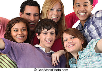 קבוצה של בני נוער