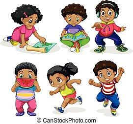 קבע, ילדים, אפריקני