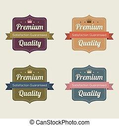 קבע, של, בציר, ראטרו, labels.