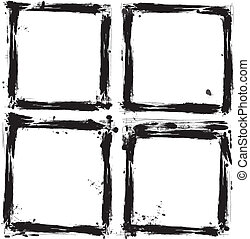 קבע, של, גראנג, frames., וקטור, illust