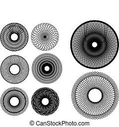 קבע, של, spirograph, מעצב