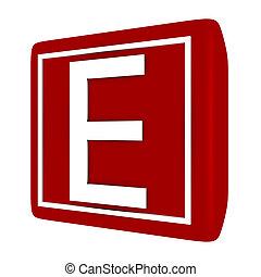 קבע, *e*, render, 1, מכתב, פונט, 3d