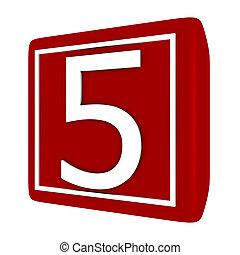 קבע, render, מספר 1, 5, פונט, 3d