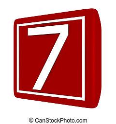 קבע, render, מספר 1, 7, פונט, 3d