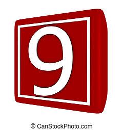 קבע, render, מספר 1, 9, פונט, 3d