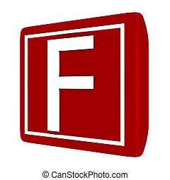 קבע, render, *f*, 1, מכתב, פונט, 3d