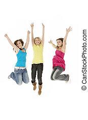 קבץ, ילדות צעירות, שלושה, הבלט, לקפוץ