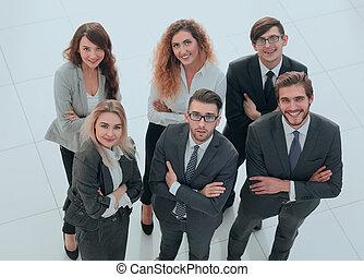 קבץ, עסק, מעל, רקע, לבן, אנשים.
