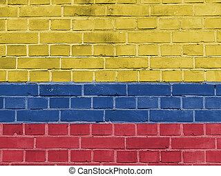 קולומביה, פוליטיקה, concept:, דגל קולומביני, קיר