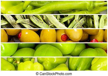 קולז', של, הרבה, פירות וירקות