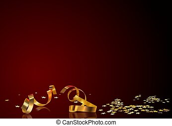 קונפטי, זהב, רקע