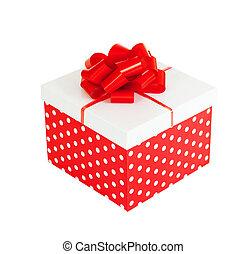 קופסה, לגזוז, מתנה, הפרד, רקע, included, שביל, אדום לבן
