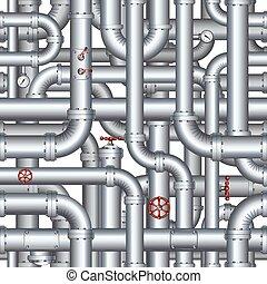 קו צינורות, תקציר, pattern., seamless, וקטור, רקע
