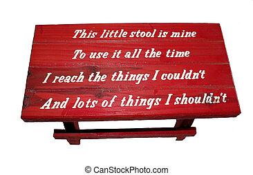 קטן, ילדים, ספסל