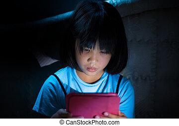 קטן, לשחק, ילדה, קדור, דיגיטלי