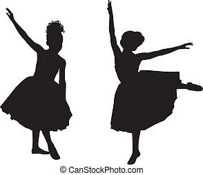 קטן, רקדניות בלט