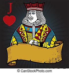 קיעקוע, סיגנון, דוגמה, ג'ק, לבבות, דגל