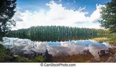 קיץ, אגם, קטע