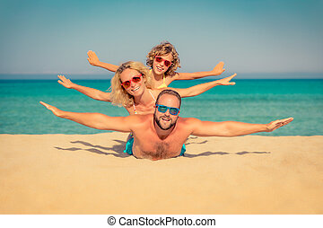 קיץ, החף חופש, משפחה, ים