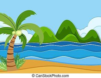 קיץ, החף, נוף