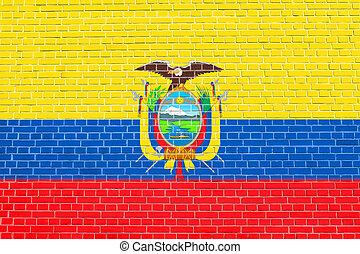 קיר, טקסטורה, דגלל, רקע, לבנה, אקוואדור
