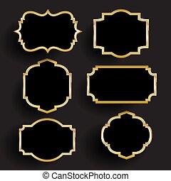 קישוטי, זהב, מסגרות, 1606, שחור, אוסף