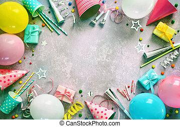 קישוט, מפלגה, יום הולדת