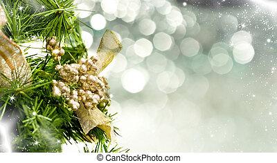 קישוט, קרוב, עץ, , חג המולד