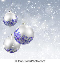 קישוט של חג ההמולד, וקטור, רקע, כרטיס