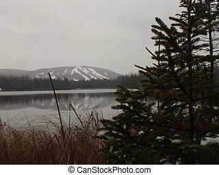 קנדה, בא, אגם, לגלוש