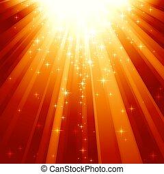 קסם, כוכבים, לרדת, ב, קורות של אור